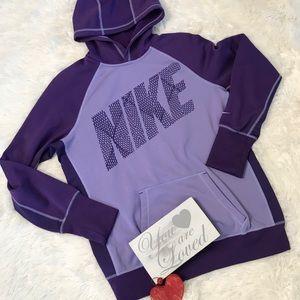 NIKE Therma-Fit Purple Hoodie